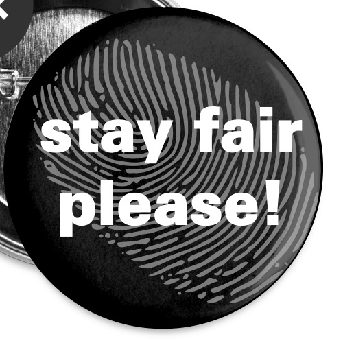 stay fair please circle button black lives matter - Buttons klein 25 mm (5er Pack)