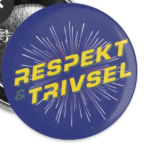 Respekt & Trivsel-badge - Buttons/Badges lille, 25 mm (5-pack)