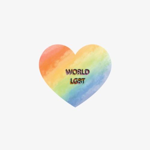 WORLD.LGBT - Paquete de 5 chapas pequeñas (25 mm)