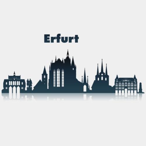 Erfurt Skyline mit Schriftzug