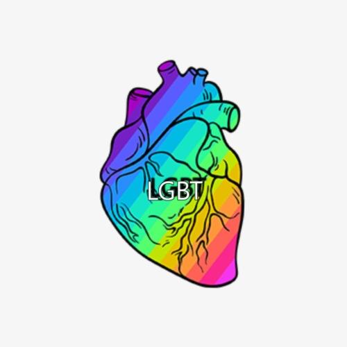 HEART.LGBT - Paquete de 5 chapas pequeñas (25 mm)
