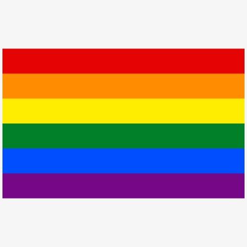 Bandera LGBT - Paquete de 5 chapas pequeñas (25 mm)