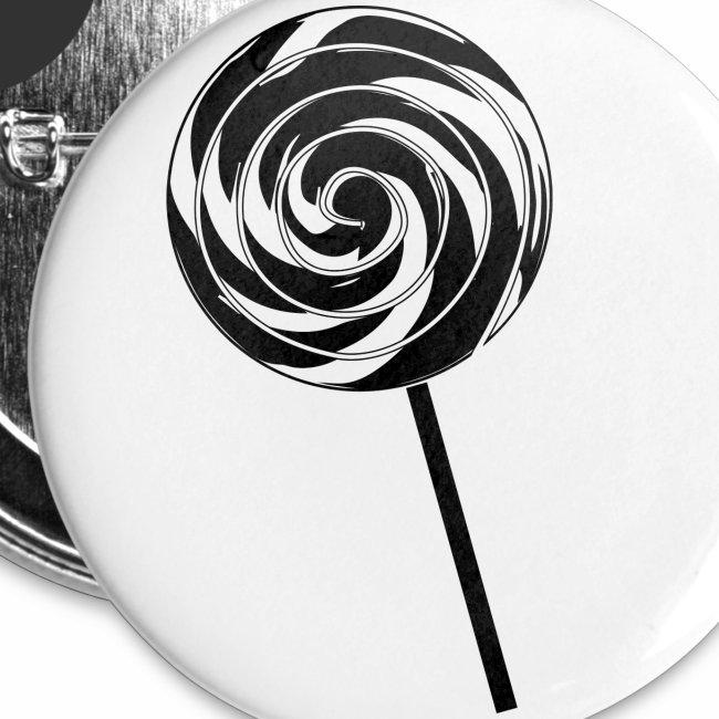 Retro Lutscher - Lollipop Design - Schwarz Weiß