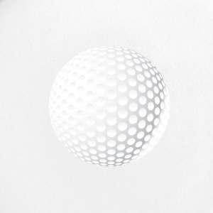 golfista golfball squadra tee golf club verde - Spilla piccola 25 mm