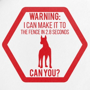 Dog / Dobermann: Warning - I can make it to you - Buttons small 25 mm