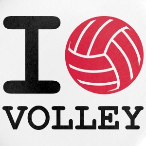 i love volley ball - Badge petit 25 mm