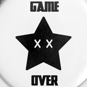 Game Over - Mario Star - Badge petit 25 mm