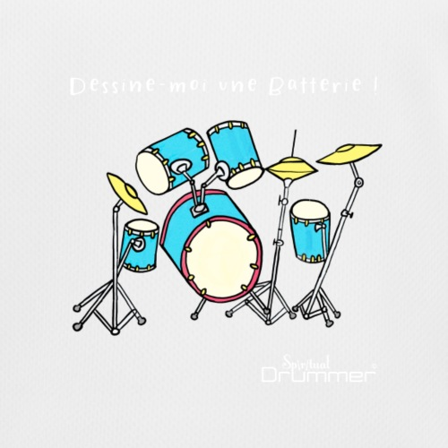 Luigi Drum White - Kids Functional T-Shirt