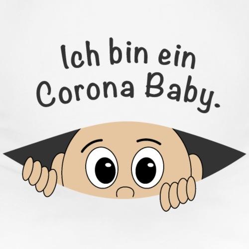 Corona Baby Babybauch Gesicht Spruch schwanger