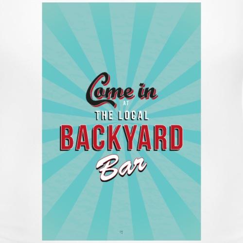 backyard bar - Vrouwen zwangerschap-T-shirt