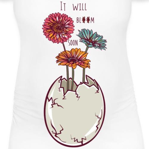 Blooming egg - Women's Pregnancy T-Shirt