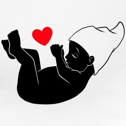 Bauchzwerg schwarz / weiß - Schwangerschaft - Frauen Schwangerschafts-T-Shirt