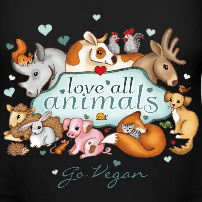 Love all animals door Maria Tiqwah