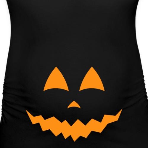 Schwangerschaft Halloween Kürbis Gesicht Geschenk - Frauen Schwangerschafts-T-Shirt