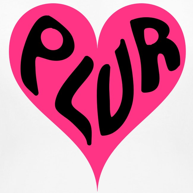 PLUR - Peace Love Unity and Respect love heart