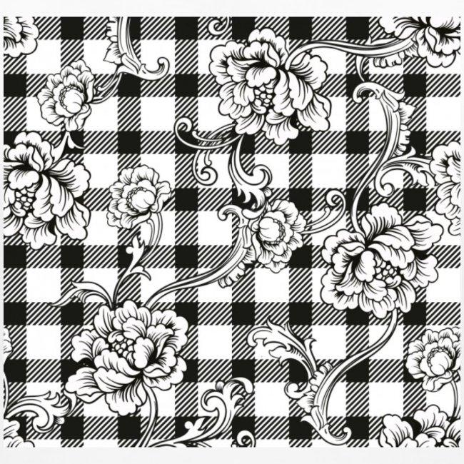 CHECK pattern throw pillow