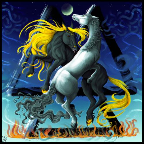 Ylva and Saga - Poster 24 x 24 (60x60 cm)