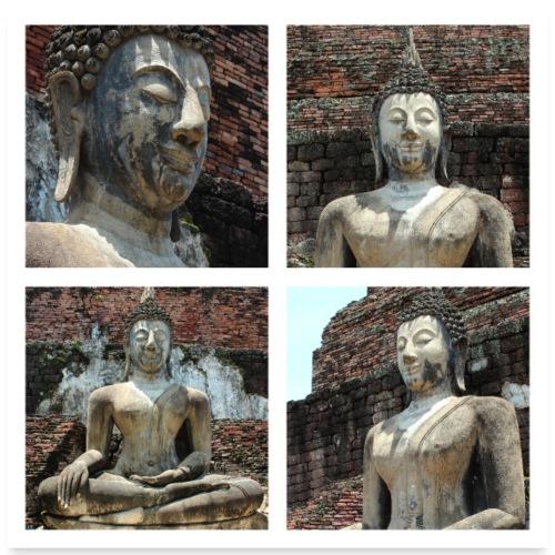 Buddhas 01 - Poster 60x60 cm