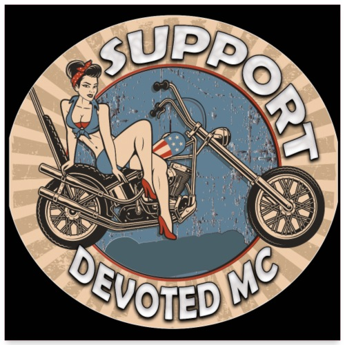 Poster03 DEVOTEDMC SUPPORT captain america - Poster 60x60 cm