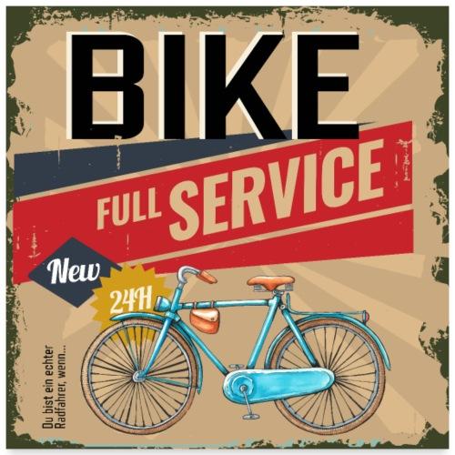 Bike Full Service - Fahrrad Service - Poster 60x60 cm