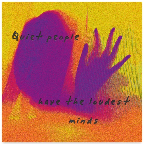 quiet people - Poster 60x60 cm