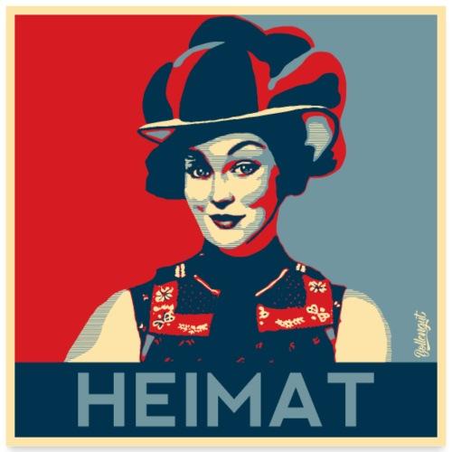 HEIMAT Schwarzwaldmädel Anna - Poster 60x60 cm