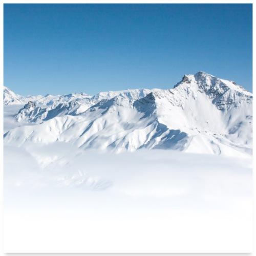 Mer de nuage depuis la Lauzière - Poster 60 x 60 cm