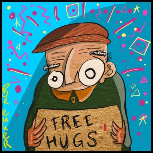 Free Hugs - Poster 60x60 cm