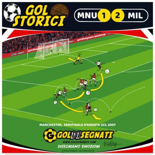 POSTER MNU-MIL 1-2 Il Gol dell'asso brasiliano - Poster 60x60 cm