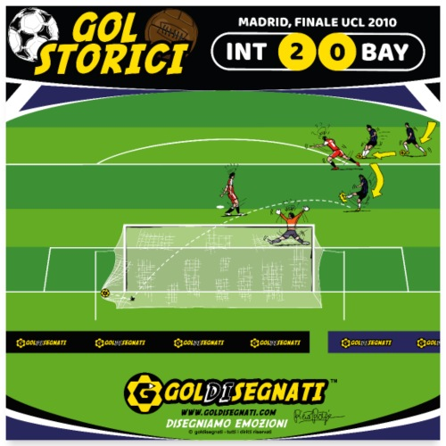 INT-BAY 2-0 Finale UCL 2010 - Poster 60x60 cm