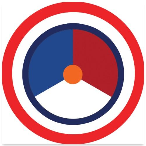 Nederland logo - Poster 60x60 cm
