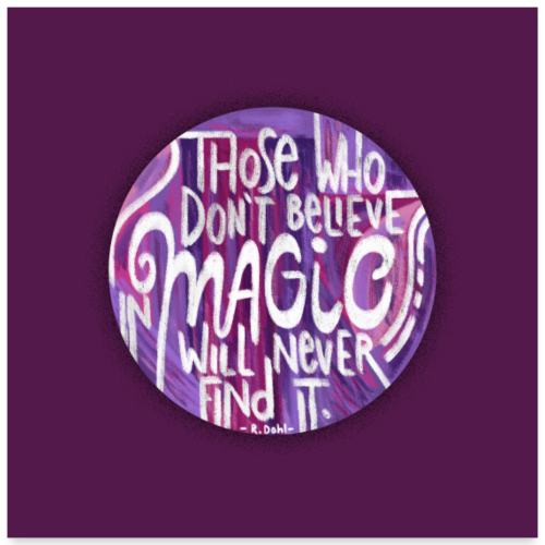 believe in magic - POSTER - Poster 60x60 cm