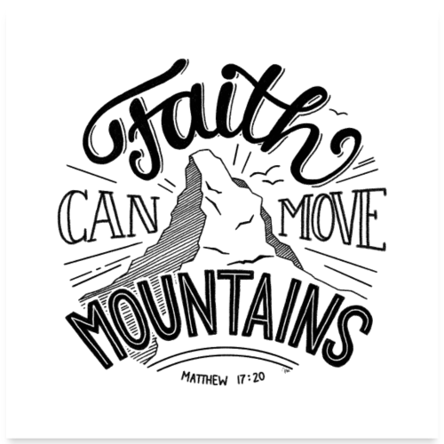move mountains - POSTER - Poster 60x60 cm