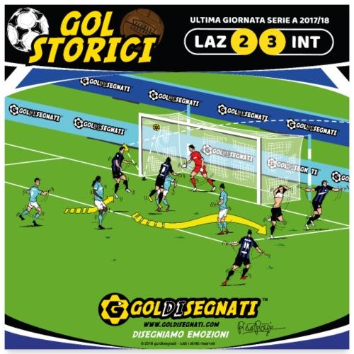 POSTER LAZ-INT 2-3 Il Gol della Qualificazione - Poster 60x60 cm