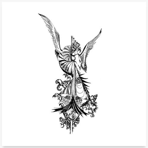 Oiseau lyre - Poster 60 x 60 cm