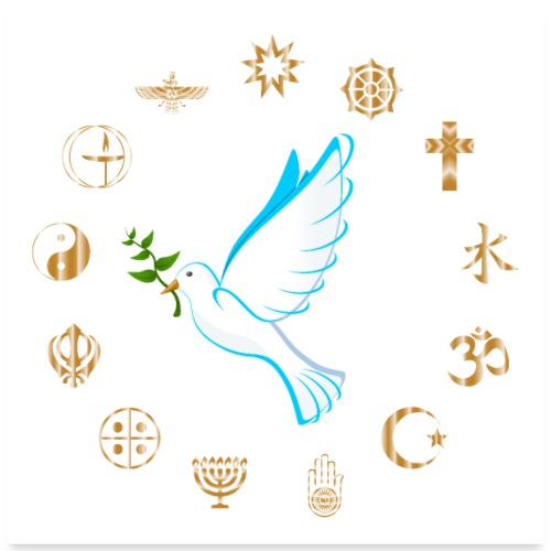Religions for Peace - Poster 24 x 24 (60x60 cm)