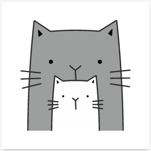 Katzen niedlich süß Katzenmotiv Dekoration