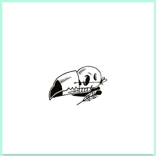 Toucan Skull POSTER - Poster 60 x 60 cm