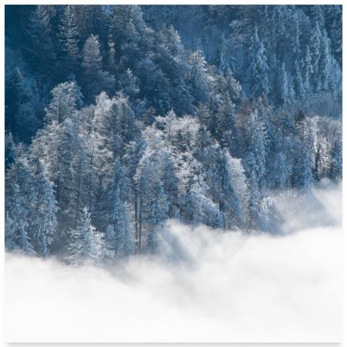 Mer de nuages en hiver - Poster 60 x 60 cm