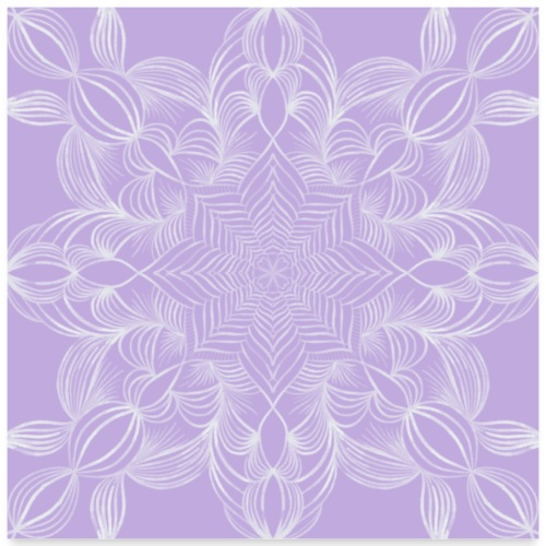 Ein wunderschönes Mandala - Poster 60x60 cm