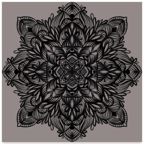 Naturbelassenes Mandala - Poster 60x60 cm
