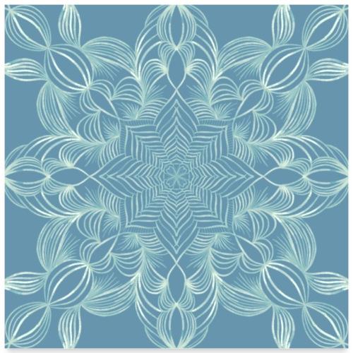 Mandala in Blattoptik - Poster 60x60 cm