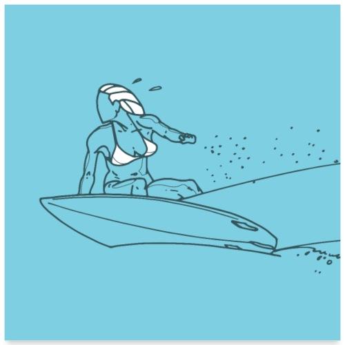 Surfeuse - Poster 60 x 60 cm
