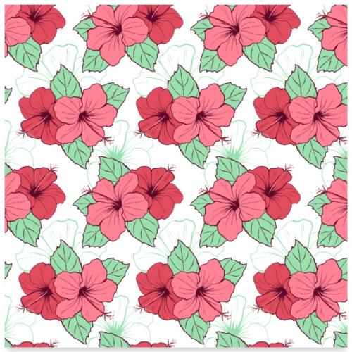 Blumen Malerei Kunst Kunstwerk Muster - Poster 60x60 cm