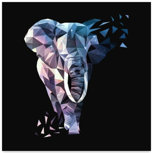 Elefant Dreieck Design - Poster 60x60 cm