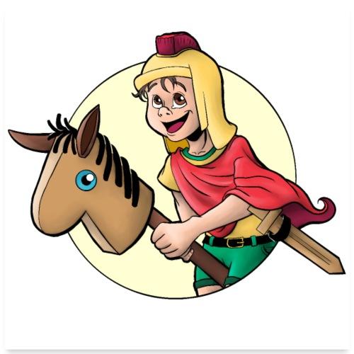 Kind als Sankt Martin - Poster 60x60 cm