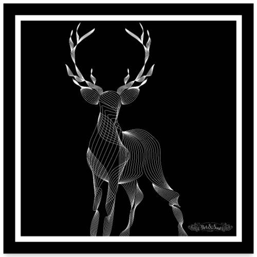 STAG (Black) - Poster 24 x 24 (60x60 cm)