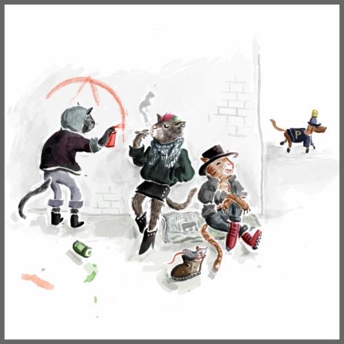 Punkcats - Poster 60x60 cm