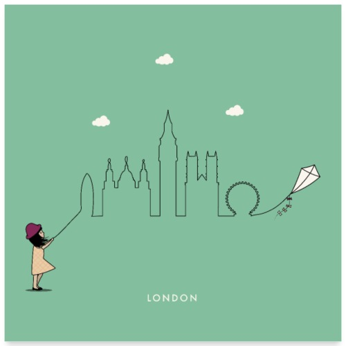 London Skyline - Poster 24 x 24 (60x60 cm)