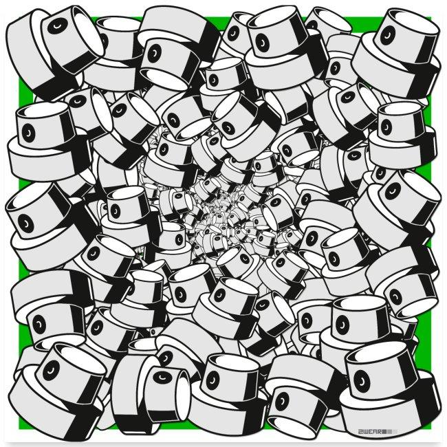 infinity fap caps graffiti style square print